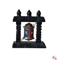 Decorated small stand-prayer wheel2