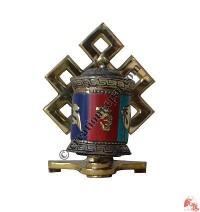 Decorated stand-prayer wheel3