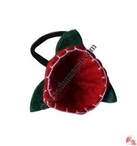 Crochet flower hairband