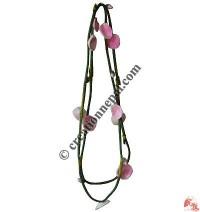 Soft wool felt flower necklace 2