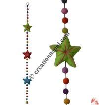 Felt beads-Star decorative hanging