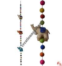Felt beads-Elephant decorative hanging