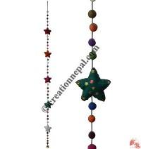 Felt beads-Stars decorative hanging2