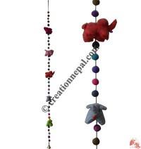 Felt beads-Elephant decorative hanging2