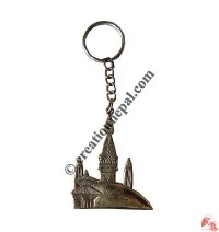Stupa design brass key-ring
