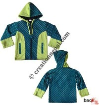 Dots print kids sinkar jacket