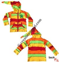 Rib 4-color joined kids jacket