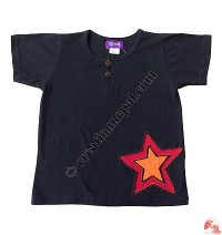 Sinkar kids star-patch t-shirt