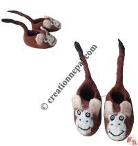 Chimp design baby shoes