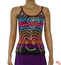 Rib multicolor stripes  tank top2