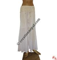 Malmal crochet flower-waist trouser