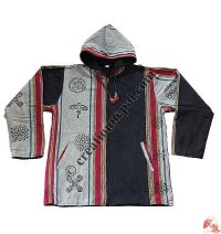 Shyama wide stripes hooded jacket