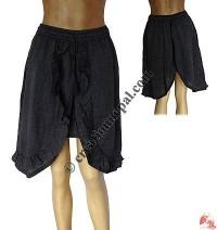 Khaddar cotton unique mini skirt