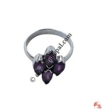 Amethyst flower finger ring