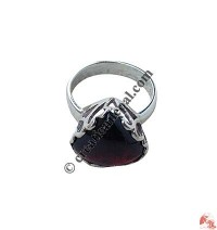Garnet Heart finger ring
