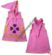 Hearts embroidered kids dress