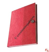 Half cover cotton laminated notebook