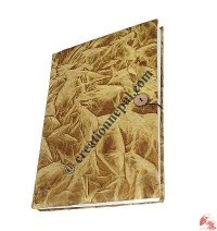 Golden tie-dye foamy cover notebook