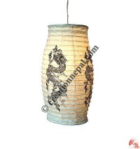 Lokta-wire cylinder lampshade2