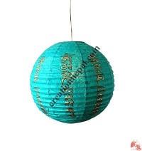 Globe shape Lokta paper lampshape6