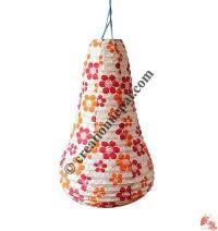 Cone shape Lokta paper lampshape2