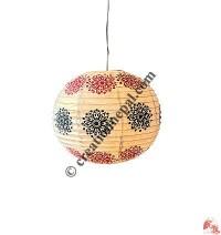 Globe shape Lokta paper lampshape7
