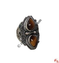 Double TD tiger-eye finger ring