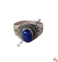Lapis stone silvert finger ring