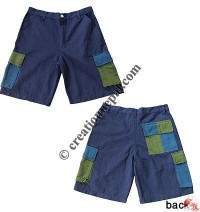 Dis-color box pockets shorts