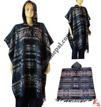 Acrylic-cotton men poncho