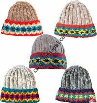 2x2 knit colorful flap watch cap