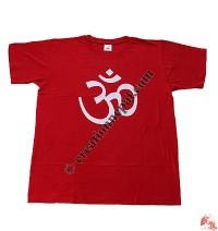 Printed OM cotton t-shirt