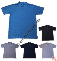 Plain color collared Polo t-shirt