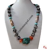 Imitated Dzi-Turquoise Necklace