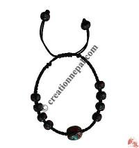Decorated beads wristband