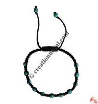 Tiny Turquoise beads wristband