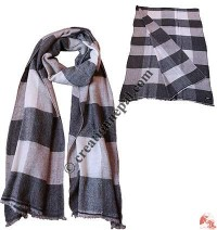 Natural buffalo check pashmina