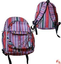 Colorful Gheri cotton backpack 1