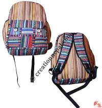 Button close gheri cotton backpack