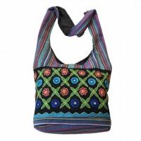Gheri cotton Mirror-flower lama bag