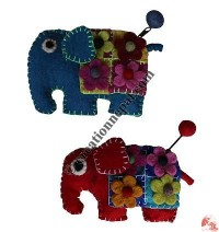 Elephant Cutout Felt Coin Purse