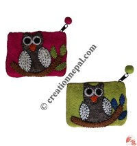 Owl on a Branch Coin Purse