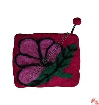 Butterfly on Leaf Coin Purse2