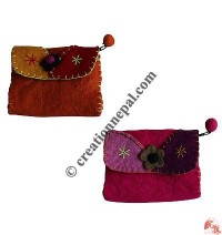 Decorated flap Coin Purse
