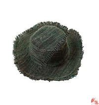 Light green-natural hemp round hat