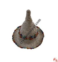 Hemp-cotton mixed Wizard hat