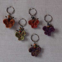 Butterfly shape cotton Key ring