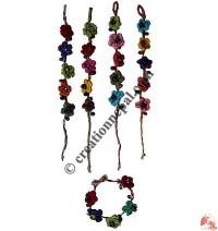 Flower-Glass beads wristband