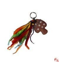 Hemp-suede Mushroom Key ring