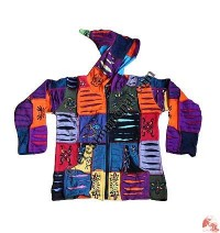 Kids jacket razor cut and brush paint